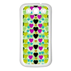 Summer Time In Lovely Hearts Samsung Galaxy S3 Back Case (white) by pepitasart