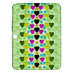 Summer Time In Lovely Hearts Samsung Galaxy Tab 3 (10 1 ) P5200 Hardshell Case  by pepitasart
