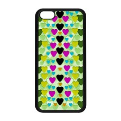 Summer Time In Lovely Hearts Apple Iphone 5c Seamless Case (black) by pepitasart