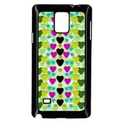 Summer Time In Lovely Hearts Samsung Galaxy Note 4 Case (black) by pepitasart