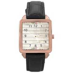 On Wood 2188537 1920 Rose Gold Leather Watch  by vintage2030