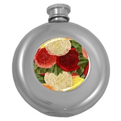 Flowers 1776429 1920 Round Hip Flask (5 Oz) by vintage2030