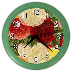 Flowers 1776429 1920 Color Wall Clocks by vintage2030