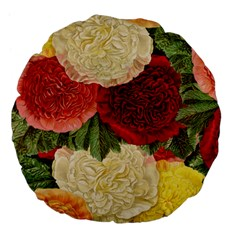 Flowers 1776429 1920 Large 18  Premium Flano Round Cushions by vintage2030