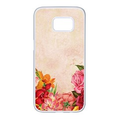 Flower 1646045 1920 Samsung Galaxy S7 Edge White Seamless Case by vintage2030