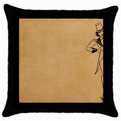 Flapper 1515869 1280 Throw Pillow Case (black) by vintage2030