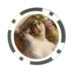 Victorian Lady In Pink Poker Chip Card Guard (10 Pack) by vintage2030