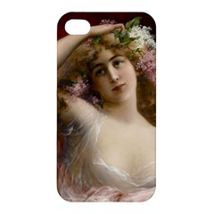 Victorian Lady In Pink Apple Iphone 4/4s Premium Hardshell Case