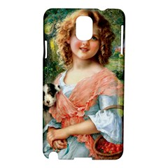 Girl With Dog Samsung Galaxy Note 3 N9005 Hardshell Case by vintage2030