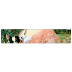 Girl With Dog Small Flano Scarf