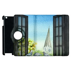 Town 1660455 1920 Apple Ipad 3/4 Flip 360 Case by vintage2030