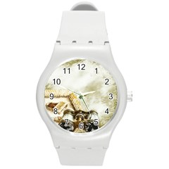Background 1660942 1920 Round Plastic Sport Watch (m) by vintage2030