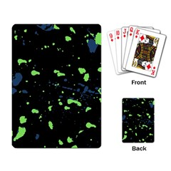 Dark Splatter Abstract Playing Card by dflcprints