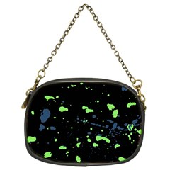 Dark Splatter Abstract Chain Purses (one Side)  by dflcprints
