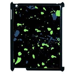 Dark Splatter Abstract Apple Ipad 2 Case (black) by dflcprints