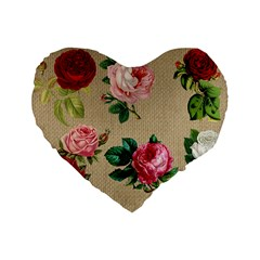 Flower 1770189 1920 Standard 16  Premium Flano Heart Shape Cushions by vintage2030
