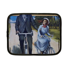Couple On Bicycle Netbook Case (small)  by vintage2030