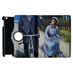 Couple On Bicycle Apple Ipad 3/4 Flip 360 Case by vintage2030