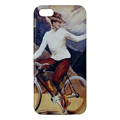 Woman On Bicycle Iphone 5s/ Se Premium Hardshell Case by vintage2030