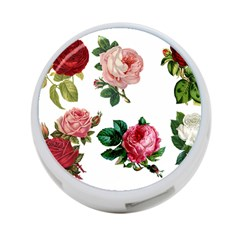 Roses 1770165 1920 4 Port Usb Hub (two Sides)  by vintage2030