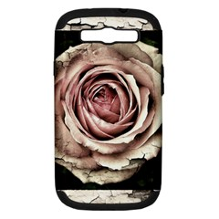 Vintage Rose Samsung Galaxy S Iii Hardshell Case (pc+silicone) by vintage2030
