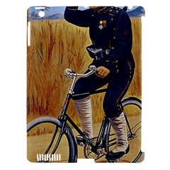 Policeman On Bicycle Apple Ipad 3/4 Hardshell Case (compatible With Smart Cover) by vintage2030