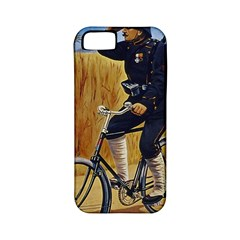 Policeman On Bicycle Apple Iphone 5 Classic Hardshell Case (pc+silicone) by vintage2030