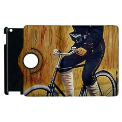 Policeman On Bicycle Apple Ipad 3/4 Flip 360 Case by vintage2030
