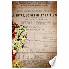 Letter Floral Canvas 24  X 36  by vintage2030