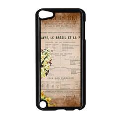 Letter Floral Apple Ipod Touch 5 Case (black) by vintage2030