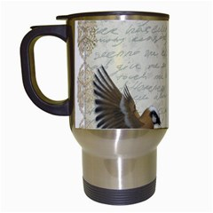 Tag Bird Travel Mugs (white) by vintage2030