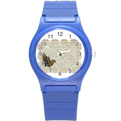 Tag Bird Round Plastic Sport Watch (s) by vintage2030