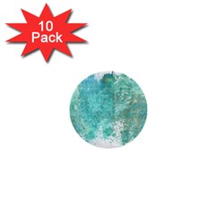 Splash Teal 1  Mini Buttons (10 Pack)  by vintage2030