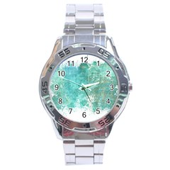 Splash Teal Stainless Steel Analogue Watch by vintage2030