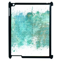 Splash Teal Apple Ipad 2 Case (black) by vintage2030
