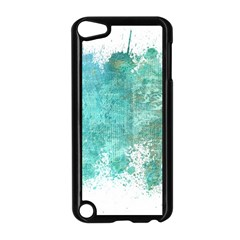 Splash Teal Apple Ipod Touch 5 Case (black) by vintage2030