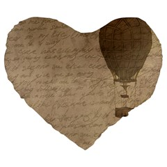 Letter Balloon Large 19  Premium Flano Heart Shape Cushions by vintage2030