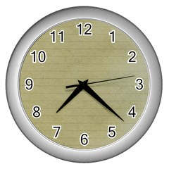Old Letter Wall Clocks (silver)  by vintage2030