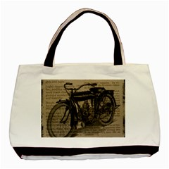 Bicycle Letter Basic Tote Bag by vintage2030