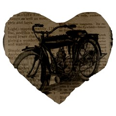Bicycle Letter Large 19  Premium Flano Heart Shape Cushions by vintage2030