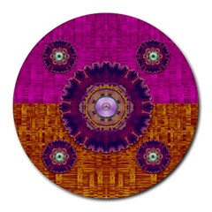 Viva Summer Time In Fauna Round Mousepads by pepitasart