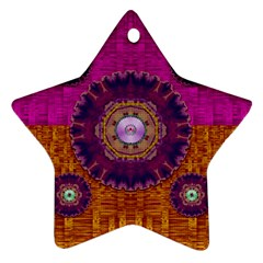 Viva Summer Time In Fauna Ornament (star) by pepitasart