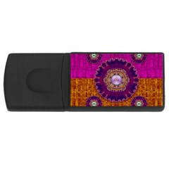 Viva Summer Time In Fauna Rectangular Usb Flash Drive by pepitasart