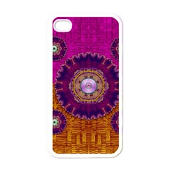 Viva Summer Time In Fauna Apple Iphone 4 Case (white) by pepitasart