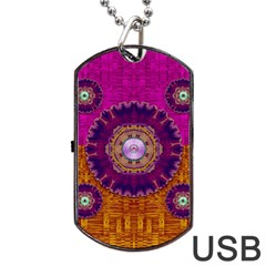 Viva Summer Time In Fauna Dog Tag Usb Flash (one Side) by pepitasart