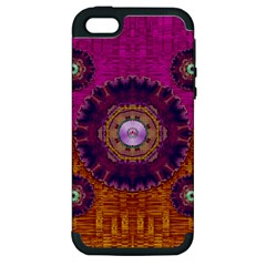 Viva Summer Time In Fauna Apple Iphone 5 Hardshell Case (pc+silicone) by pepitasart