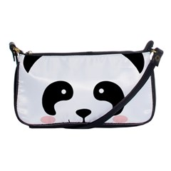 Panda  Shoulder Clutch Bags by Valentinaart