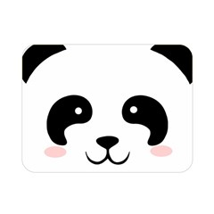 Panda  Double Sided Flano Blanket (mini)  by Valentinaart