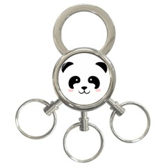 Panda  3 Ring Key Chains by Valentinaart