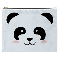 Panda  Cosmetic Bag (xxxl)  by Valentinaart